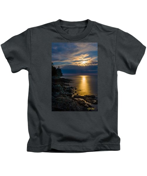 Moonrise From The Cloudbank Kids T-Shirt