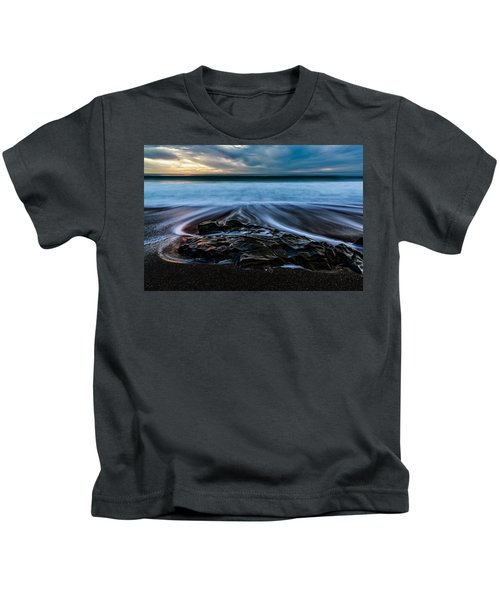 Moonstone Beach In The New Year Kids T-Shirt