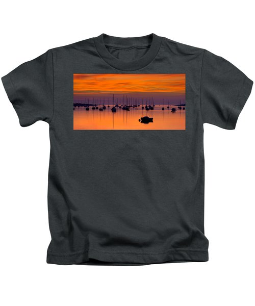 Moorings, Conwy Estuary Kids T-Shirt