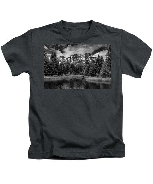 Moose At Schwabacher's Landing Kids T-Shirt