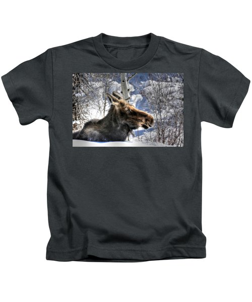 Moose On The Loose Kids T-Shirt