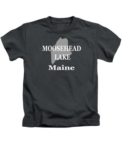 Moosehead Lake Maine State Pride  Kids T-Shirt