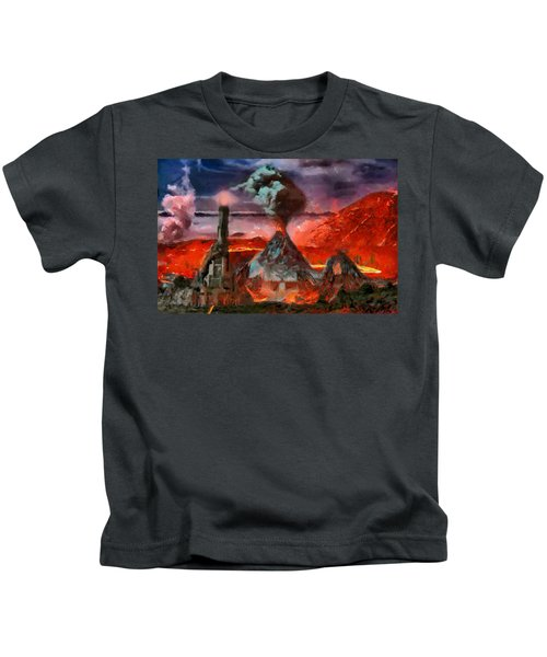 Mordor Panorama Kids T-Shirt