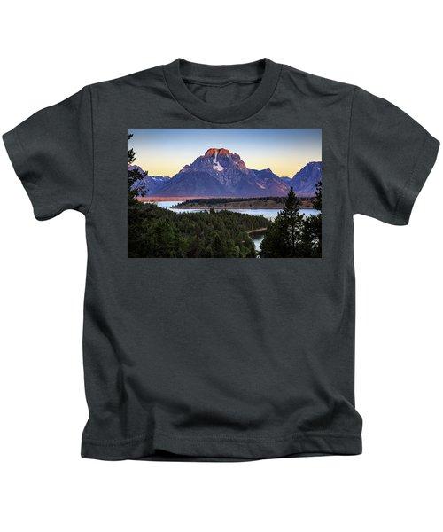 Morning At Mt. Moran Kids T-Shirt