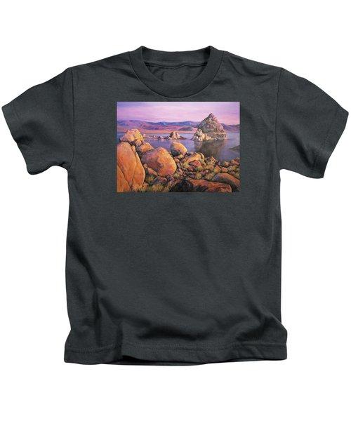 Morning Colors At Lake Pyramid Kids T-Shirt