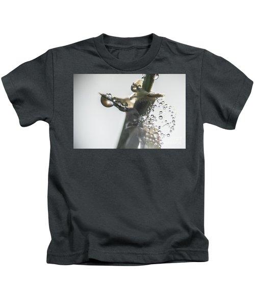 Morning Dew On A Web Kids T-Shirt