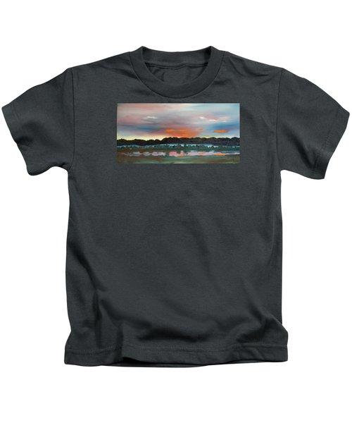 Morning Fog Silver Star  Kids T-Shirt