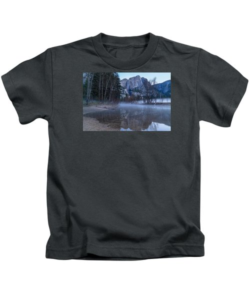 Morning Fog Yosemite Falls Kids T-Shirt