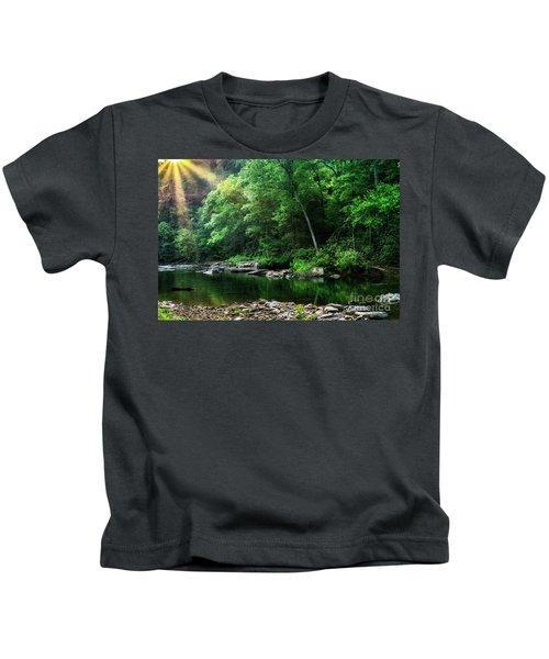 Morning Light On Williams River  Kids T-Shirt