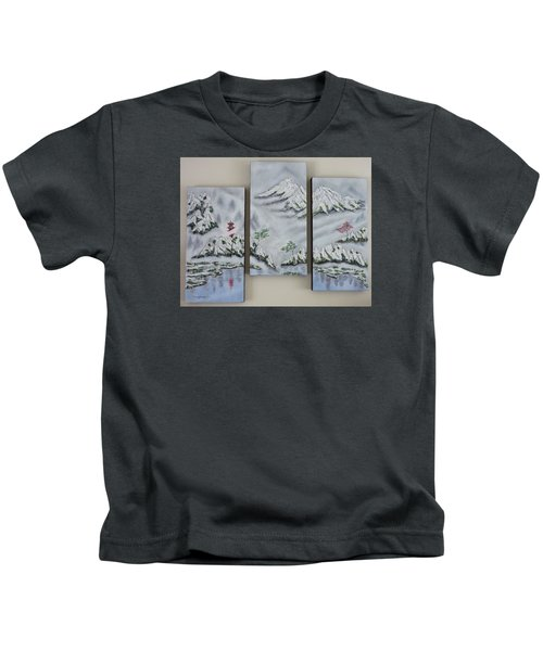 Morning Mist Triptych Kids T-Shirt