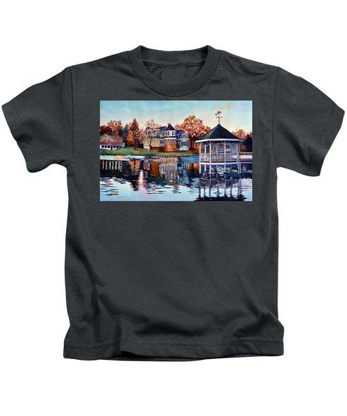 Morning On Silver Lake Kids T-Shirt