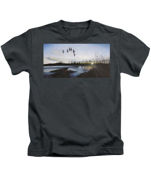 Morning Retreat - Pintails Kids T-Shirt