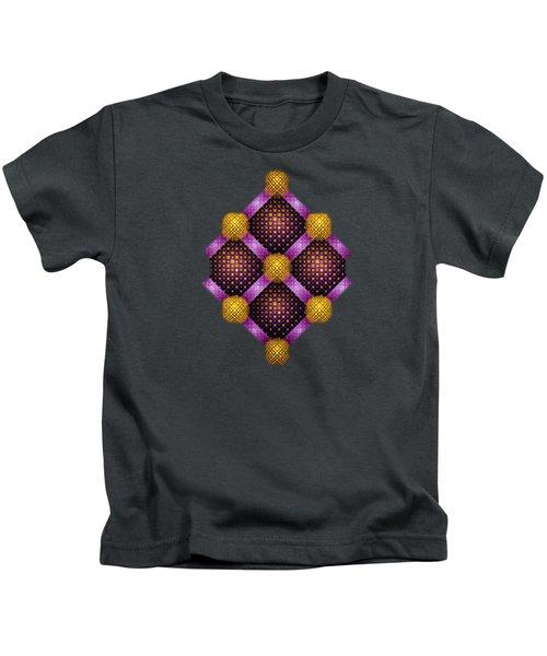 Mosaic - Purple And Yellow Kids T-Shirt