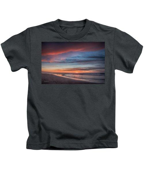 Moss Landing Sunset Kids T-Shirt