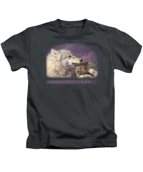 Mother's Love Kids T-Shirt by Lucie Bilodeau