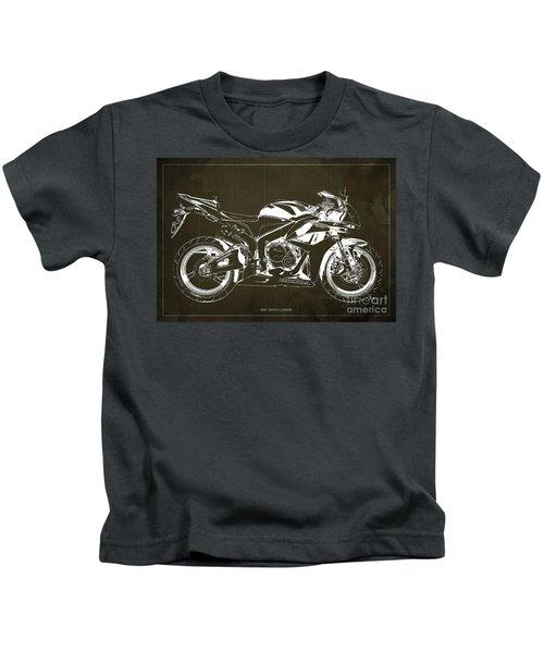 Motorcycle Blueprint Honda Cbr600 Gift For Him Gift For Her Kids T-Shirt