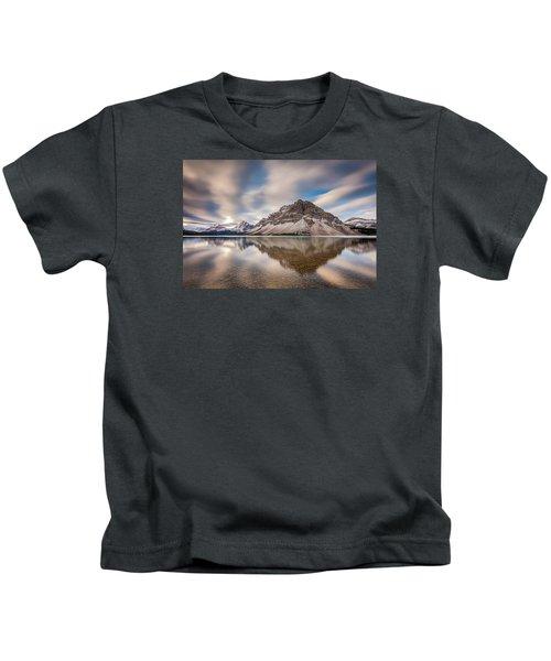 Mount Crowfoot Reflection Kids T-Shirt