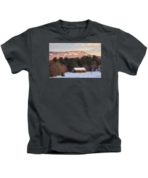 Mount Tom View From Southampton Kids T-Shirt