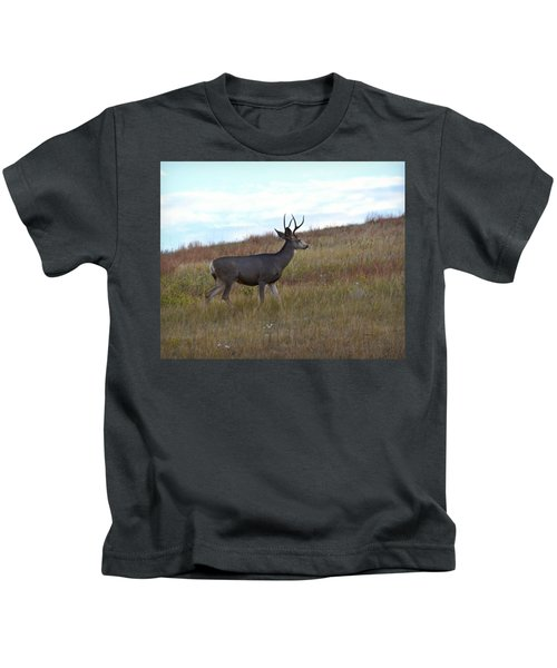Mountain Climbing Deer Kids T-Shirt