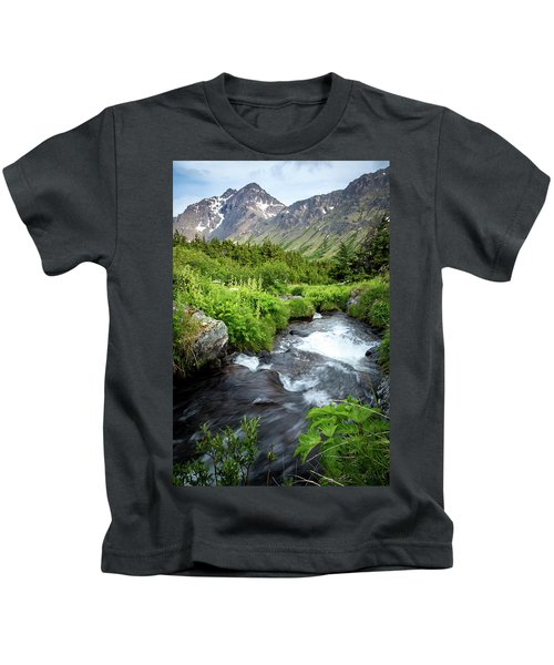 Mountain Creek In Early Summer Kids T-Shirt