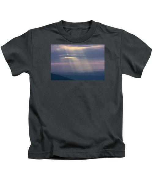 Mountain God Rays Kids T-Shirt
