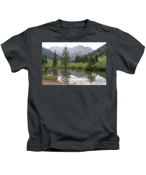 Mountain Selfie  Kids T-Shirt