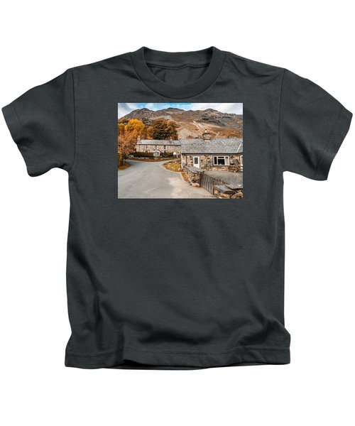 Mountains In The Back Yard Kids T-Shirt