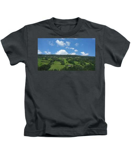 Moutain With Blue Sky Kids T-Shirt