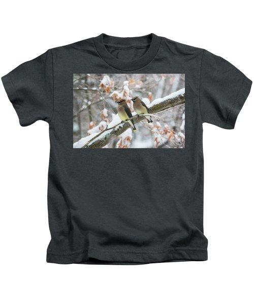 Mr. And Mrs. Cedar Wax Wing Kids T-Shirt