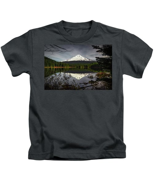 Mt Hood Reflection Kids T-Shirt