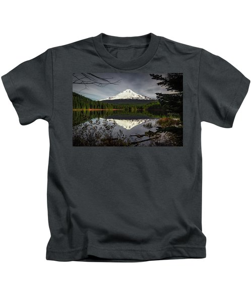 Mt Hood Reflection Kids T-Shirt