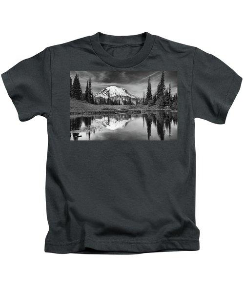 Mt Rainier In Reflection Kids T-Shirt