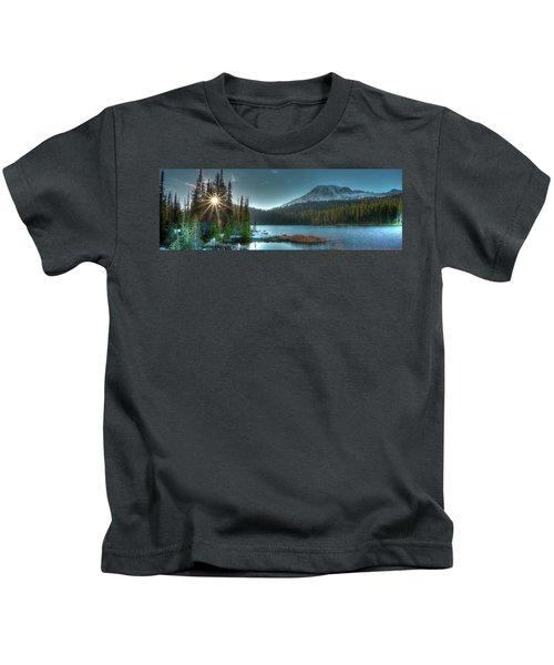 Mt. Rainier Sunrise Kids T-Shirt