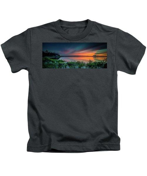 Mud Bay Sunset 4 Kids T-Shirt