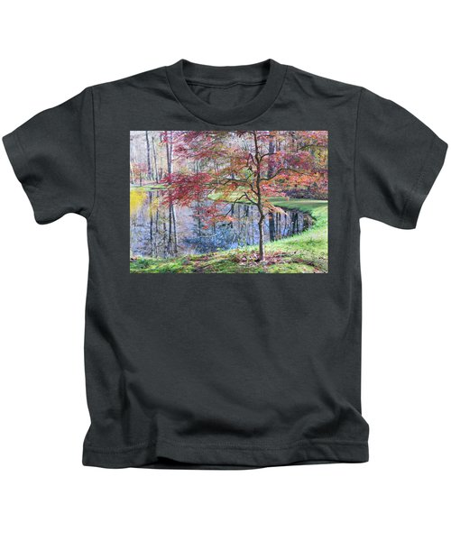 Multi Color Japanese Maple Kids T-Shirt
