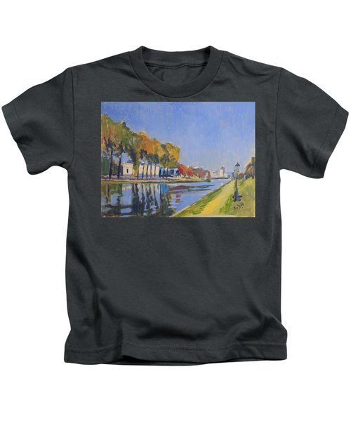Musee La Boverie Liege Kids T-Shirt by Nop Briex