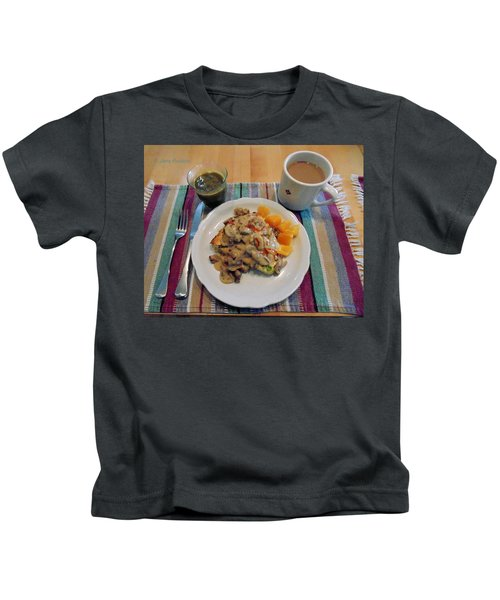 Mushroom Gravy Over Breakfast Quiche  Kids T-Shirt