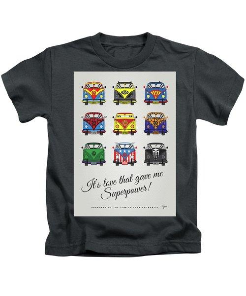 My Superhero-vw-t1-supermanmy Superhero-vw-t1-universe Kids T-Shirt