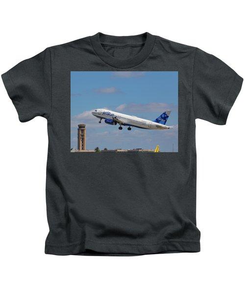 N625jb Jetblue At Fll Kids T-Shirt