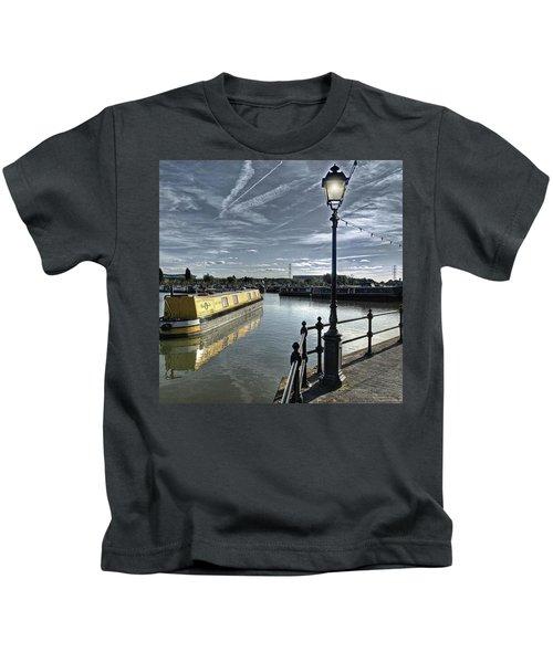 Narrowboat Idly Dan At Barton Marina On Kids T-Shirt