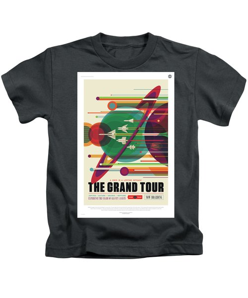 Nasa The Grand Tour Poster Art Visions Of The Future Kids T-Shirt