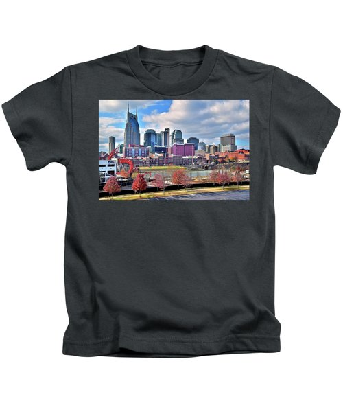Nashville Clouds Kids T-Shirt by Frozen in Time Fine Art Photography
