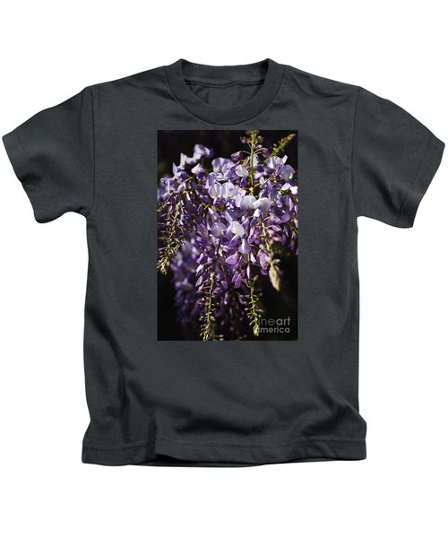 Natural Wisteria Bouquet Kids T-Shirt