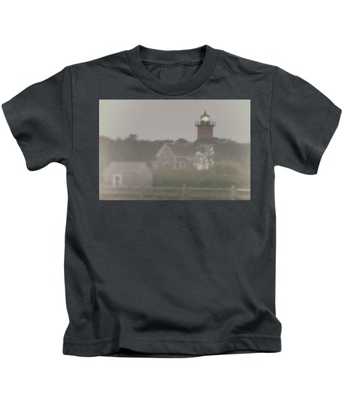 Nauset Lighthouse In Red And White From Early Morning To Late Kids T-Shirt