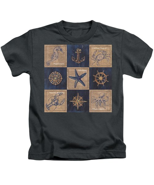 Nautical Burlap Kids T-Shirt