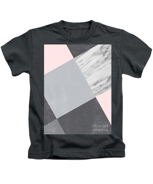 Neutral Collage With Marble Kids T-Shirt