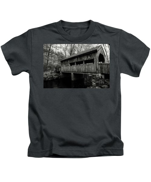New England Covered Bridge Kids T-Shirt