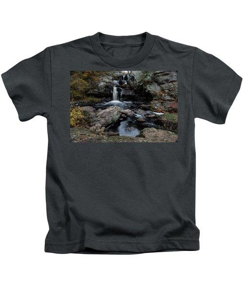 New England Waterfall In Autumn Kids T-Shirt