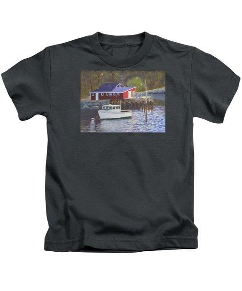New Harbor Sunrise Kids T-Shirt