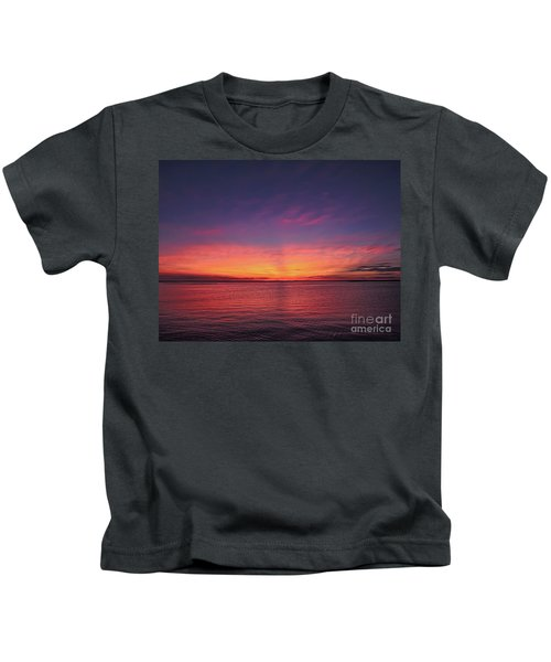 New Jersey Shore Sunset Kids T-Shirt